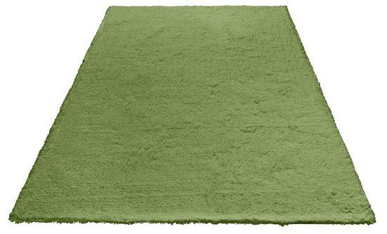 Hochflor-Teppich »Magong«, my home, rechteckig, Höhe 25 mm, besonders weich durch Microfaser