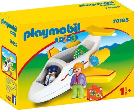 Playmobil® Konstruktions-Spielset »Passagierflugzeug (70185), Playmobil 1-2-3«