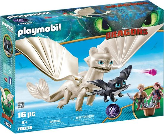 Playmobil® Konstruktions-Spielset »Light Fury Spielset (70038), Dragons«, Made in Germany
