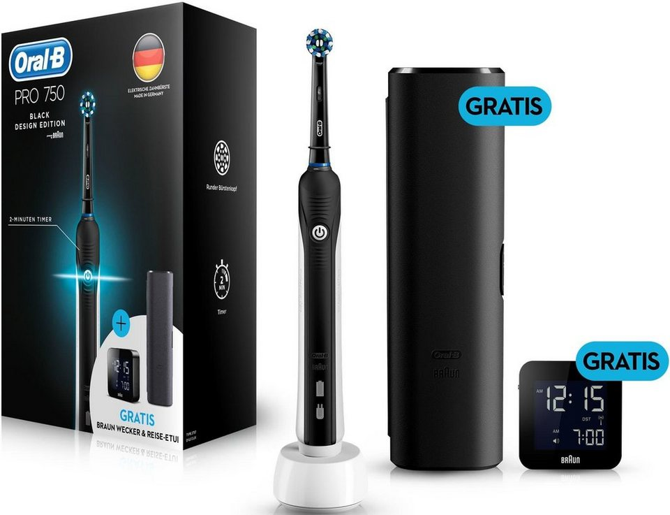 Oral B Elektrische Zahnbürste PRO 750 Limitierte Black Design Edition c517b28d48152
