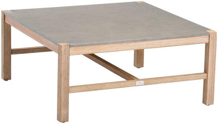 BEST Loungetisch »Madagaskar«, Eucalyptus/Beton, LxB: 80x80 cm