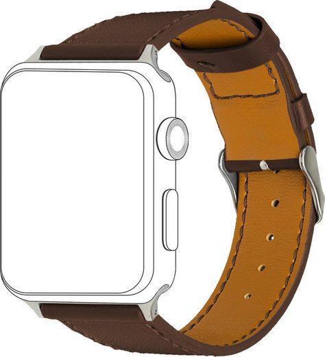 topp Accessoires Ersatz-/Wechselarmband »Leder mit Ziernaht für Apple Watch (38/40 mm)«