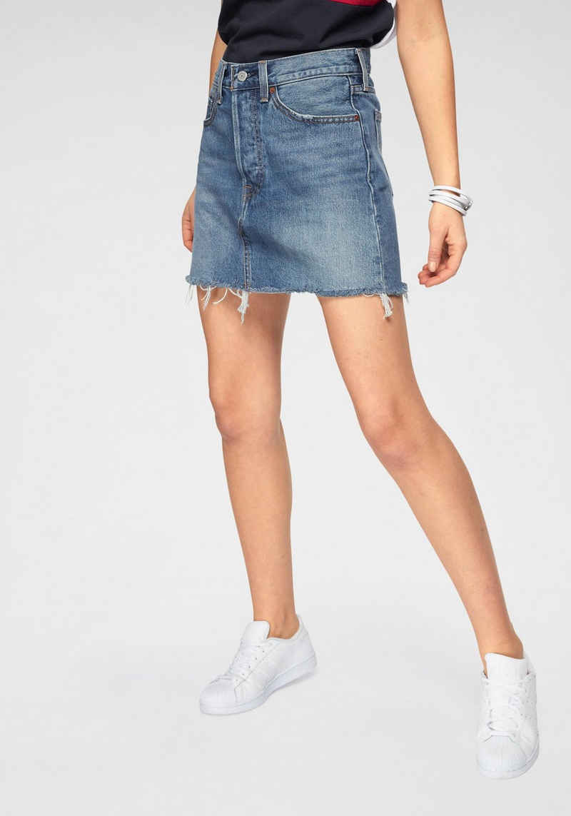 Levi's® Jeansrock »High Rise Deconstructed Skirt« Mit leicht ausgefranster Kante