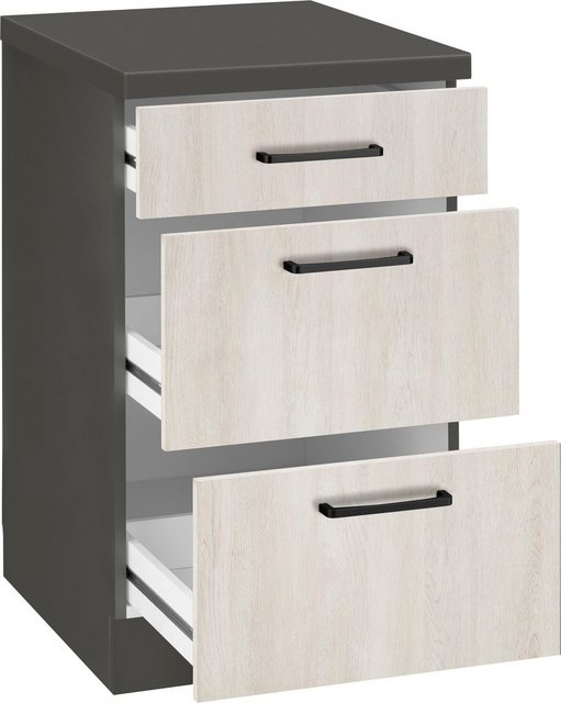 Küchenschränke - wiho Küchen Unterschrank »Esbo« 50 cm breit, mit 2 großen Auszügen  - Onlineshop OTTO