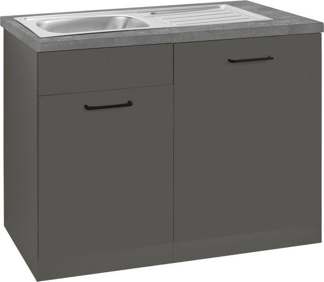 Küchenschränke - wiho Küchen Spülenschrank »Esbo« 110 cm breit, inkl. Tür Sockel für Geschirrspüler  - Onlineshop OTTO