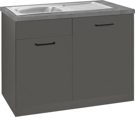 wiho Küchen Spülenschrank »Esbo« 110 cm breit, inkl. Tür/Sockel für Geschirrspüler