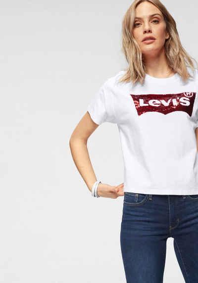 11846f56134229 Levi's® T-Shirt »Graphic Varsity Squin« Logo mit Pailletten