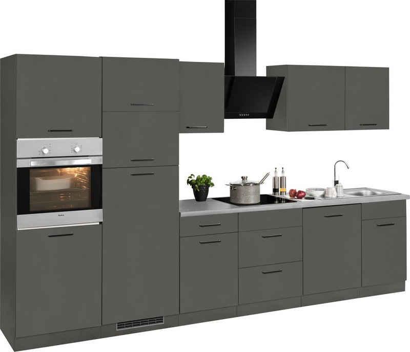 wiho Küchen Küchenzeile »Esbo«, mit E-Geräten, Breite 340 cm