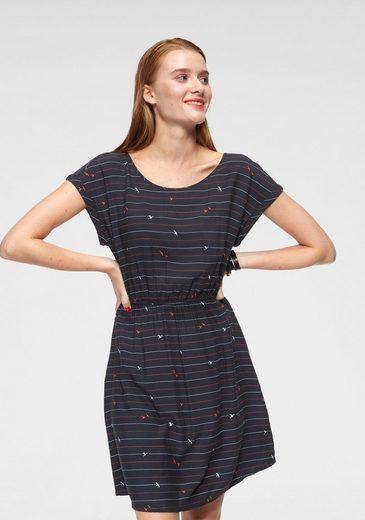 TOM TAILOR Denim Sommerkleid mit raffiniertem Rückenausschnitt