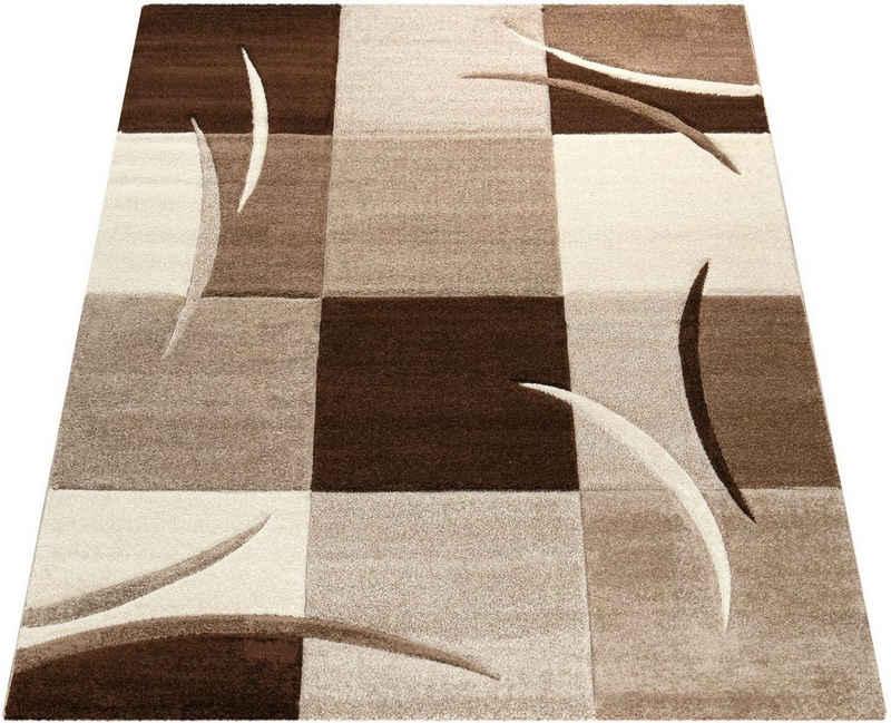 Teppich »Diamond 665«, Paco Home, rechteckig, Höhe 17 mm, Kurzflor, gewebt, Karo-Muster, 3D-Design, Wohnzimmer