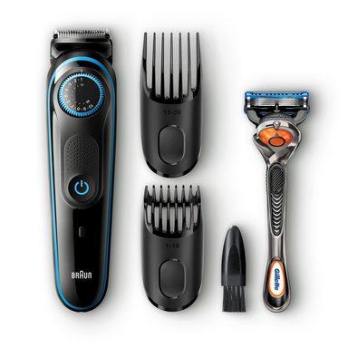 Braun Haar- und Bartschneider BT5040, mit Gratis Gillette Fusion5 ProGlide Rasierer
