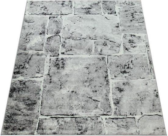Teppich »Sinai 050«, Paco Home, rechteckig, Höhe 13 mm, moderner Kurzflor mit Stein-Optik