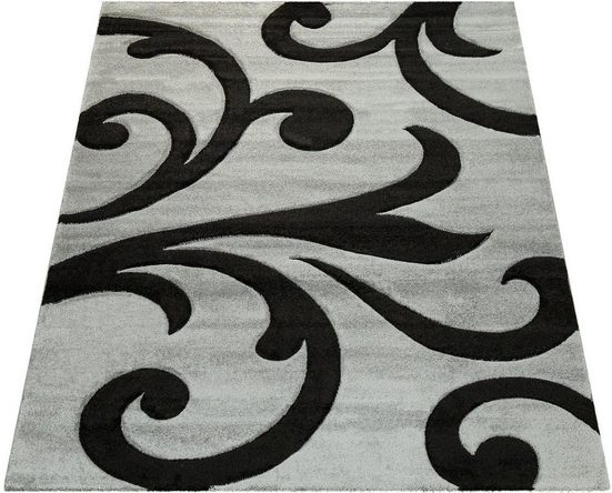 Teppich »Diamond 761«, Paco Home, rechteckig, Höhe 18 mm, 3D-Design, Kurzflor mit Ornamenten