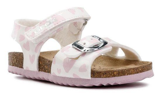 Geox Kids »B Sandal Chalki Girl« Sandale mit softem Fußbett aus vegetabil gegerbtem Leder
