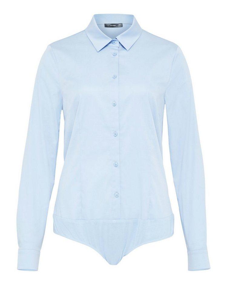 HALLHUBER Blusenbody mit Hemdkragen   Unterwäsche & Reizwäsche > Bodies & Corsagen > Blusenbodys   Blau   Elasthan - Polyester   HALLHUBER