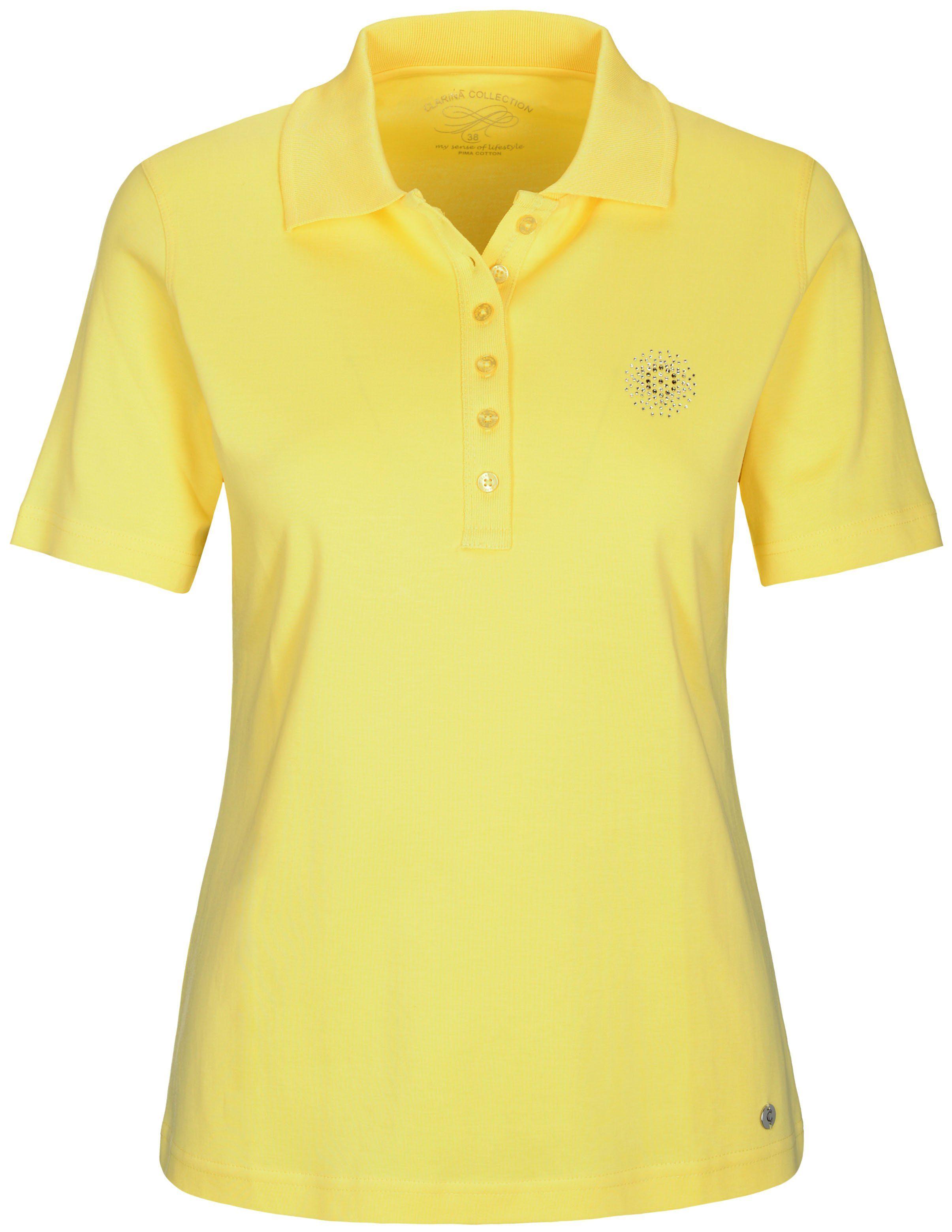 Clarina Poloshirt mit Strasssteinchen-Applikation