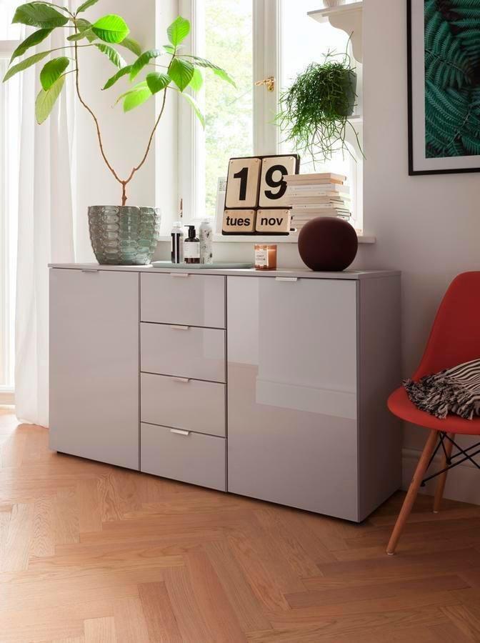 Kommoden, Sideboards und Schminktische - set one by Musterring Kommode »dayton« mit Glasfront, Breite 140 cm  - Onlineshop OTTO