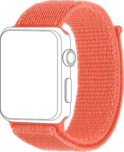 topp Accessoires Ersatz-/Wechselarmband »Nylon Loop für Apple Watch (42/44 mm)«