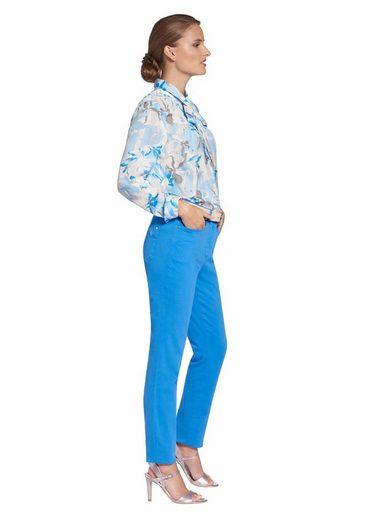 Blau Basler Schluppenbluse »bluse Mit Knopf Hemdkragen« BQrxCoWde