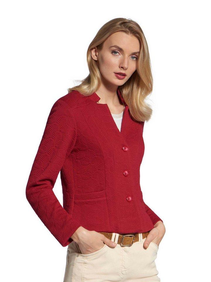 Basler Jackenblazer »Jersey-Blazer« Ausbrenner   Bekleidung > Blazer > Jackenblazer   Rot   Basler