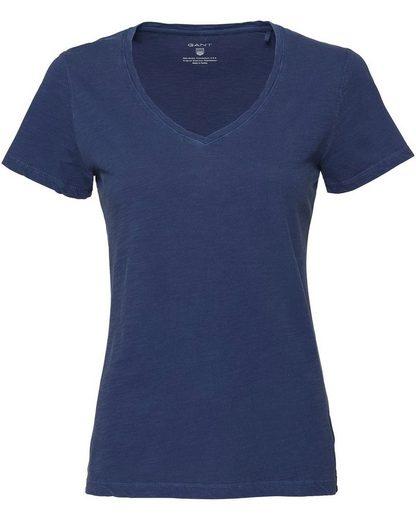 Gant T-Shirt mit V-Ausschnitt