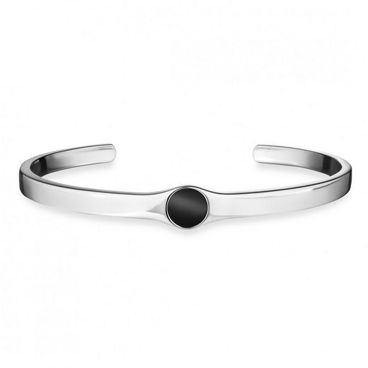 CAÏ Armband »925/- Sterling Silber rhodiniert Onyx«