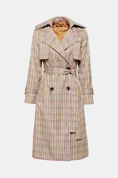 Esprit Collection Trenchcoat mit Glencheck-Muster