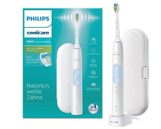 Philips Sonicare Schallzahnbürste HX6839/28 ProtectiveClean 4500, Aufsteckbürsten: 1 St., mit 2 Putzprogrammen inkl. Reiseetui & Ladegerät