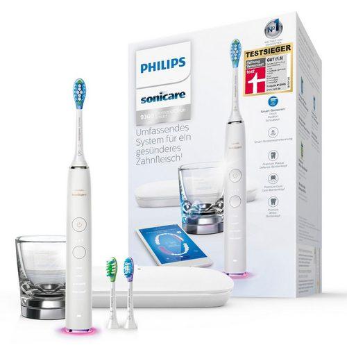 Philips Sonicare Schallzahnbürste HX9903/03, Aufsteckbürsten: 3 St., Reiseetui, DiamondClean Smart mit Ladeglas