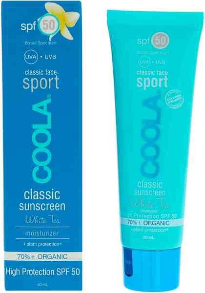 COOLA Sonnenschutzlotion »Classic Sport Face SPF50 White Tea«
