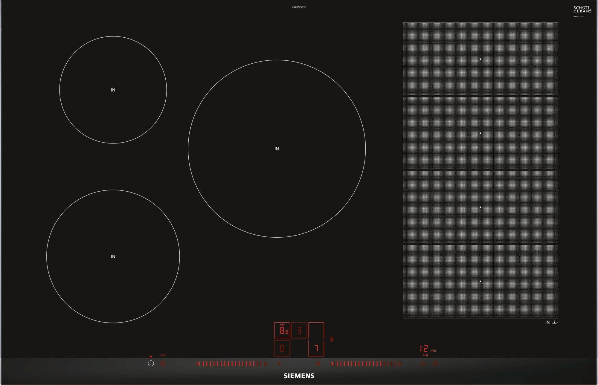 SIEMENS Flex-Induktions-Kochfeld von SCHOTT CERAN® EX875LVC1E EX875LVC1E
