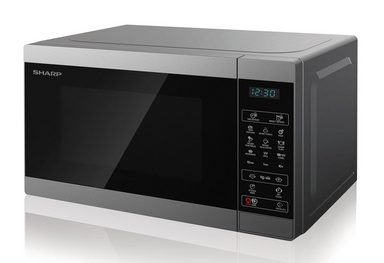 Sharp Mikrowelle YC-MG02E-S, 800 W, mit Grill