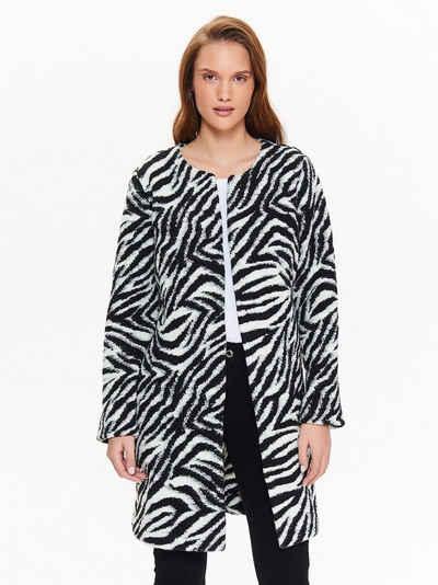 TOP SECRET Strickjacke mit ausgefallenem Zebramuster