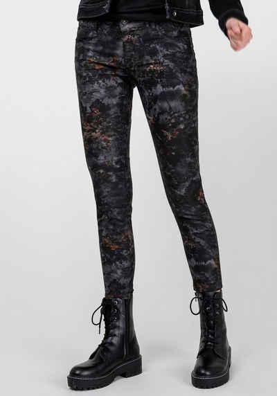 BLUE FIRE Skinny-fit-Jeans »CHLOE-PRINT« mit Blumenmuster