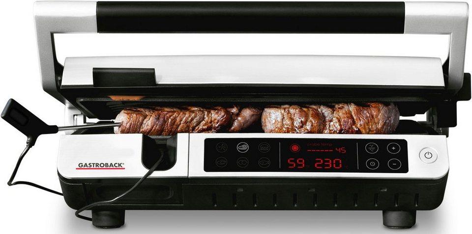 Gastroback Kontaktgrill 42539 Design BBQ Advanced Control, 2000 W online  kaufen | OTTO