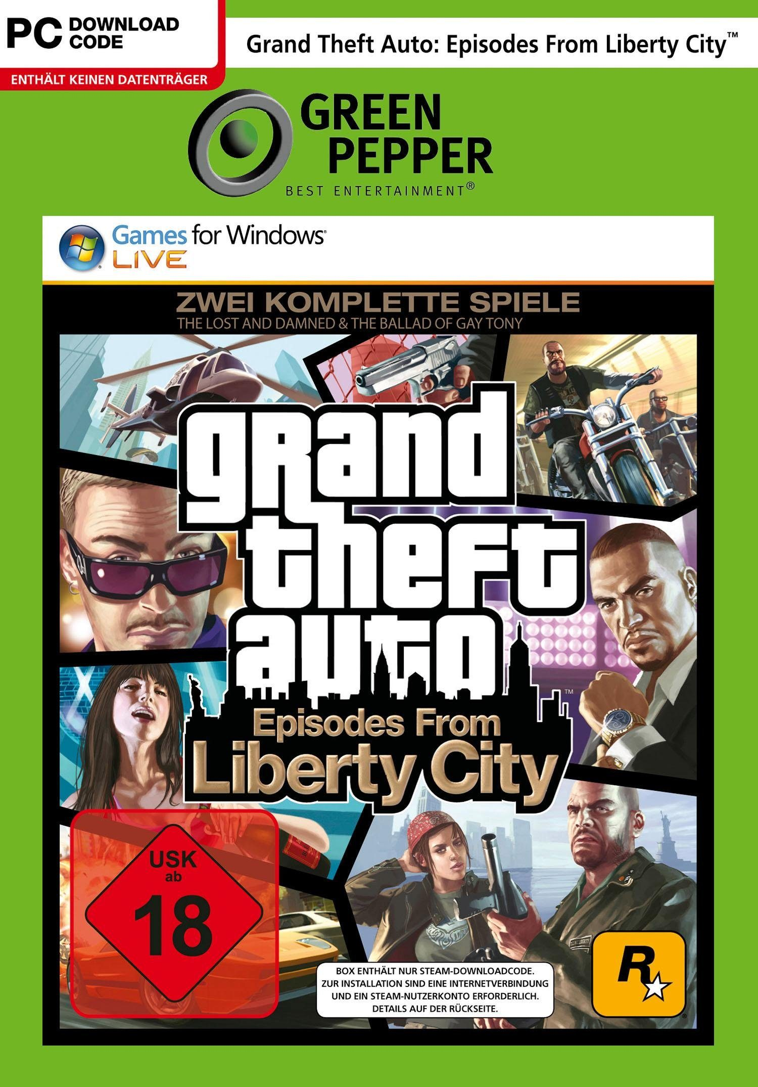 GTA: Episodes from Liberty City PC, Software Pyramide