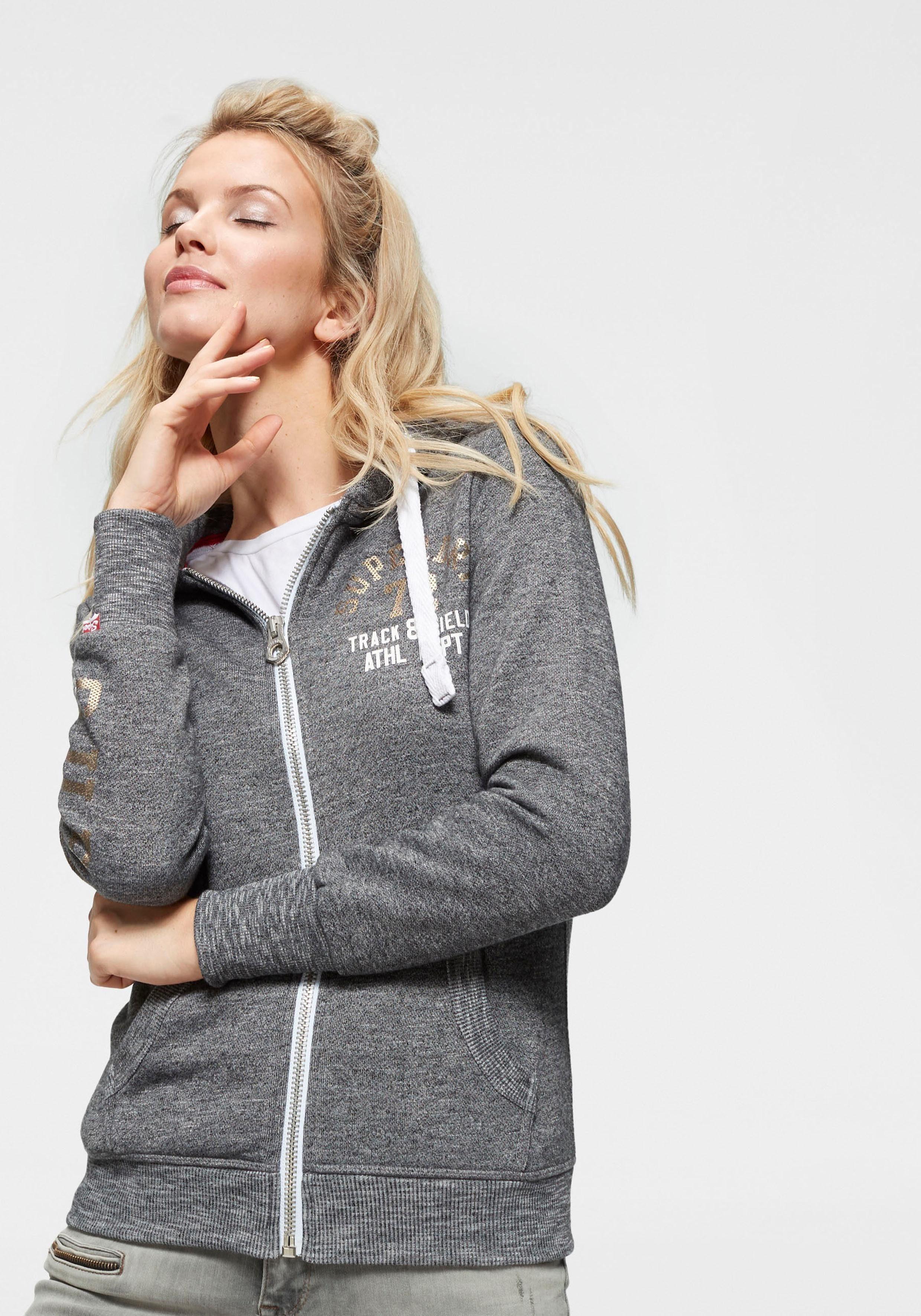 Superdry Kapuzensweatjacke »TRACK & FIELD ZIPHOOD« im College Style online kaufen   OTTO