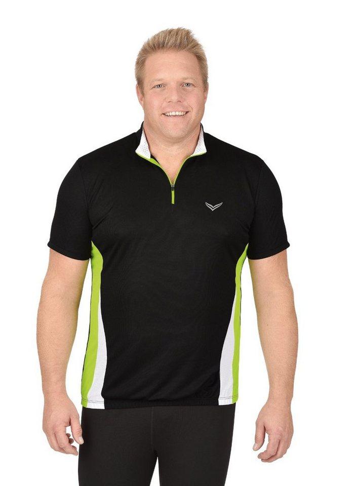 TRIGEMA Fahrradtrikot   Sportbekleidung > Trikots > Fahrradtrikots   Schwarz   Polyester   Trigema