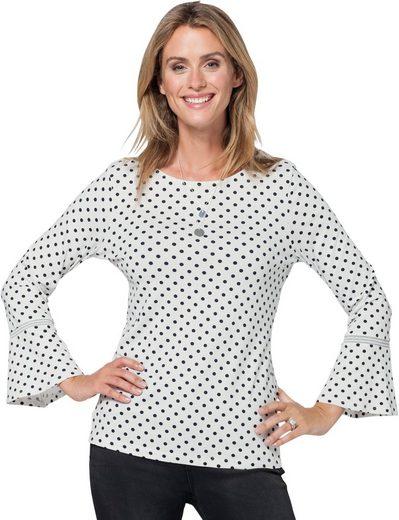 Ambria Shirt mit modisch aktuellen Pünktchen bedruckt