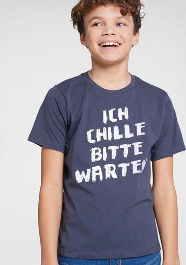 Arizona T-Shirt »Ich chille bitte warten« Druck