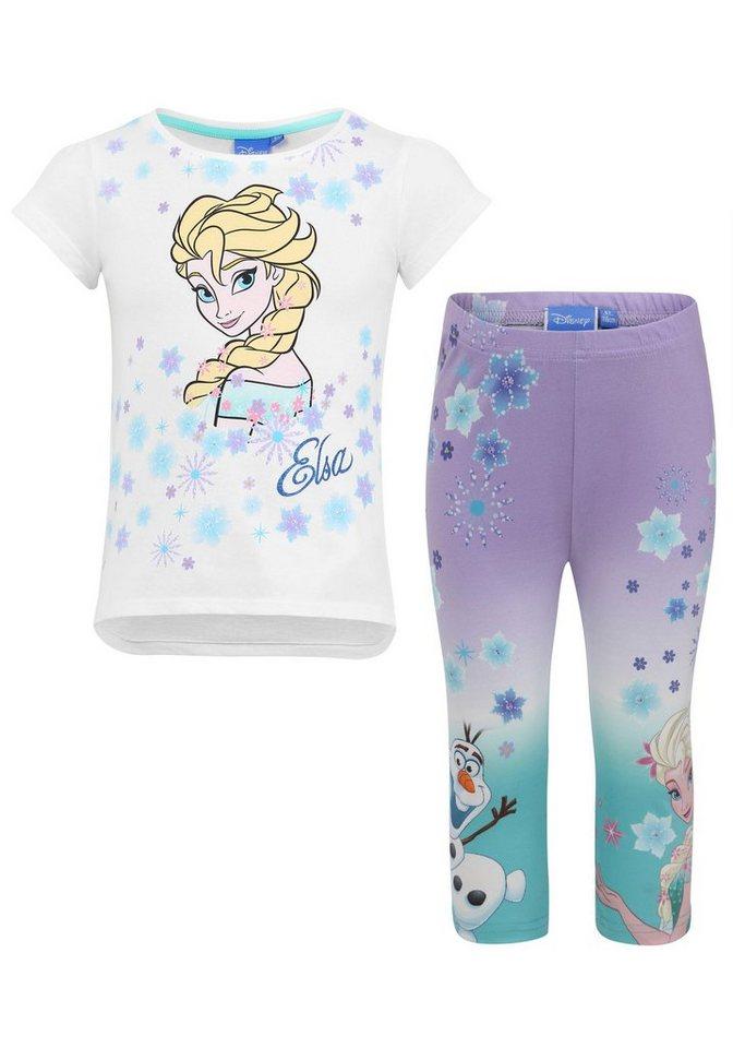 718845b09d Disney Frozen Shirt & Leggings (2-tlg) mit Elsa Glitzerdruck online ...