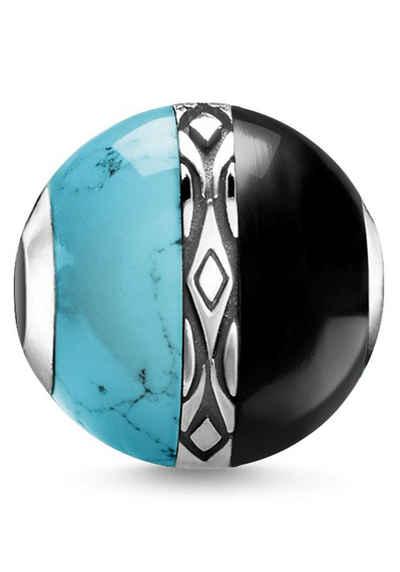 THOMAS SABO Bead »Karma Bead Ornamente türkis & schwarz, K0324-878-7«, mit Onyx und imit. Türkis