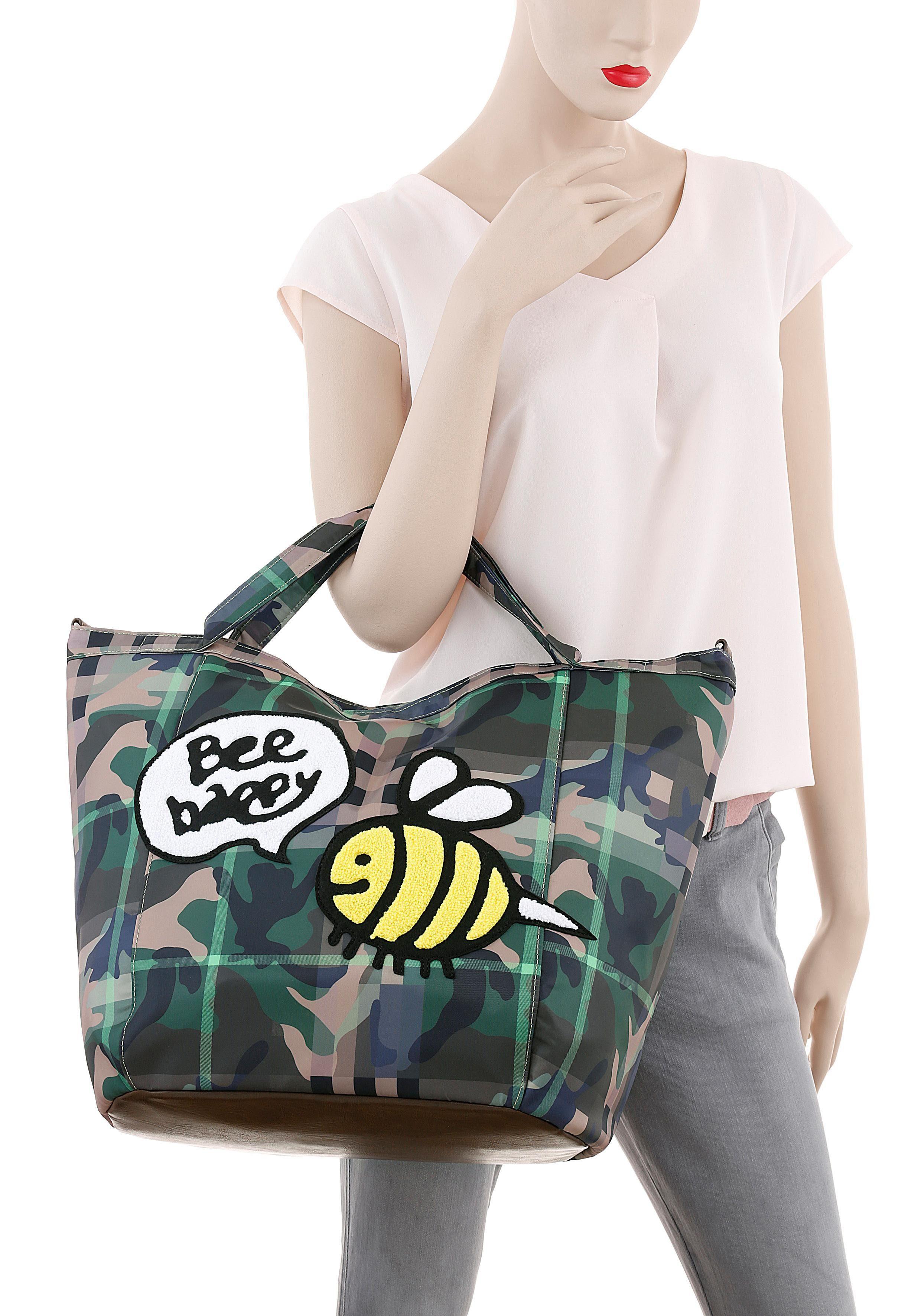 Maker Stuff Mit Druck Frottee Optik In Bienen Shopper »bee Patch« HgFgx