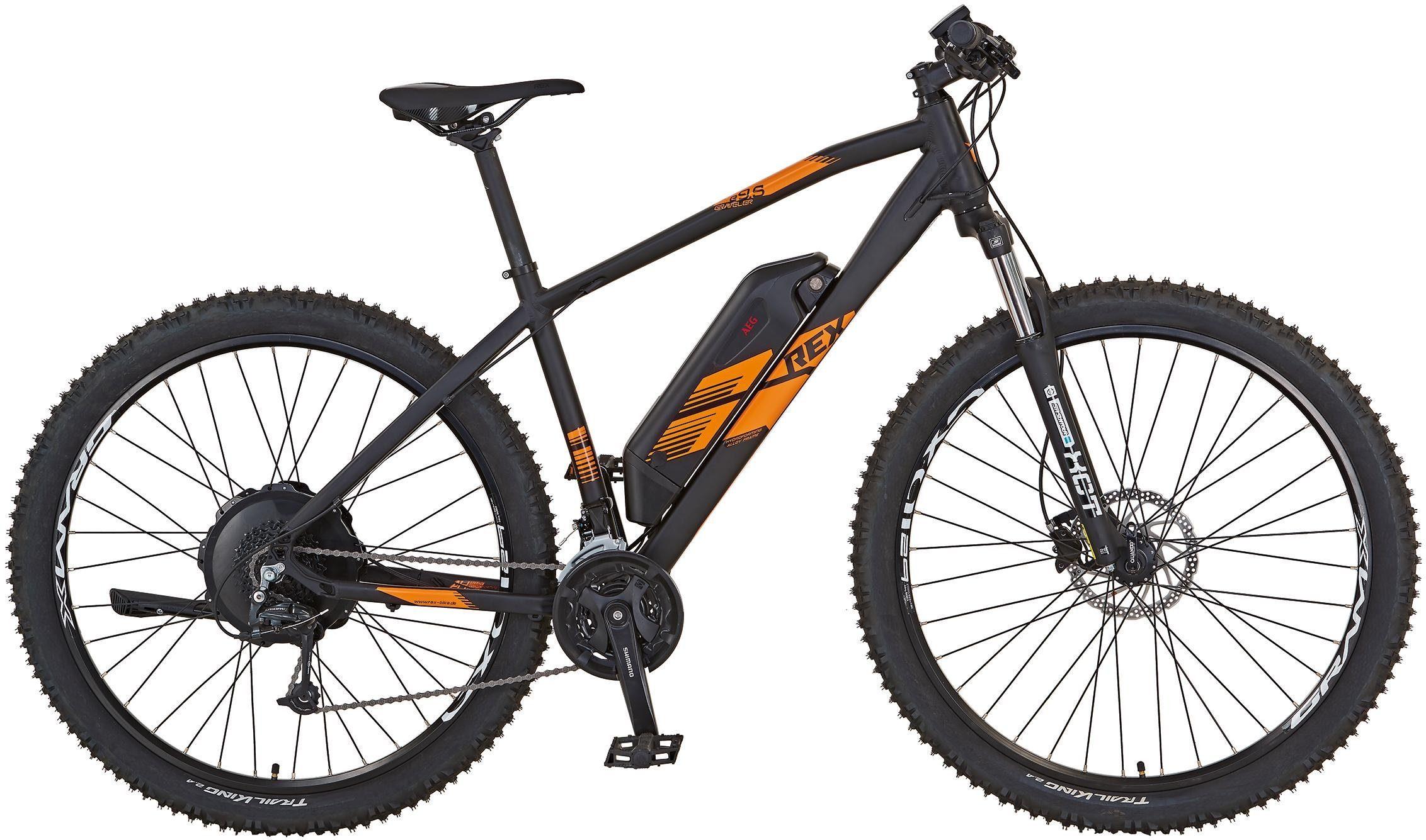 "REX Bike E-Bike »REX GRAVELER e9.5 E-MTB 29""«, 27 Gang, Heckmotor 250 W"