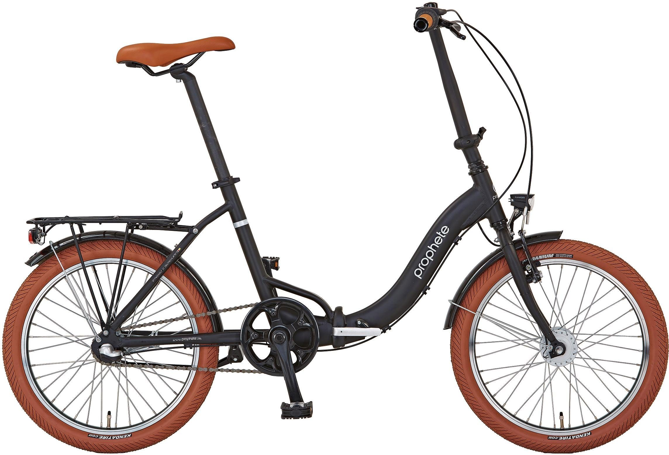 """Prophete Faltrad »PROPHETE GENIESSER 1.0 City Bike 20""""«, 3 Gang, Nabenschaltung"""