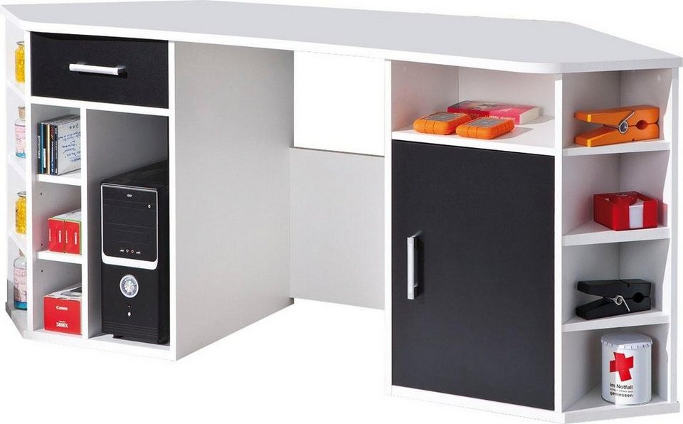 Home Affaire Eck-Schreibtisch »Fabri« Mit Viel Stauraum