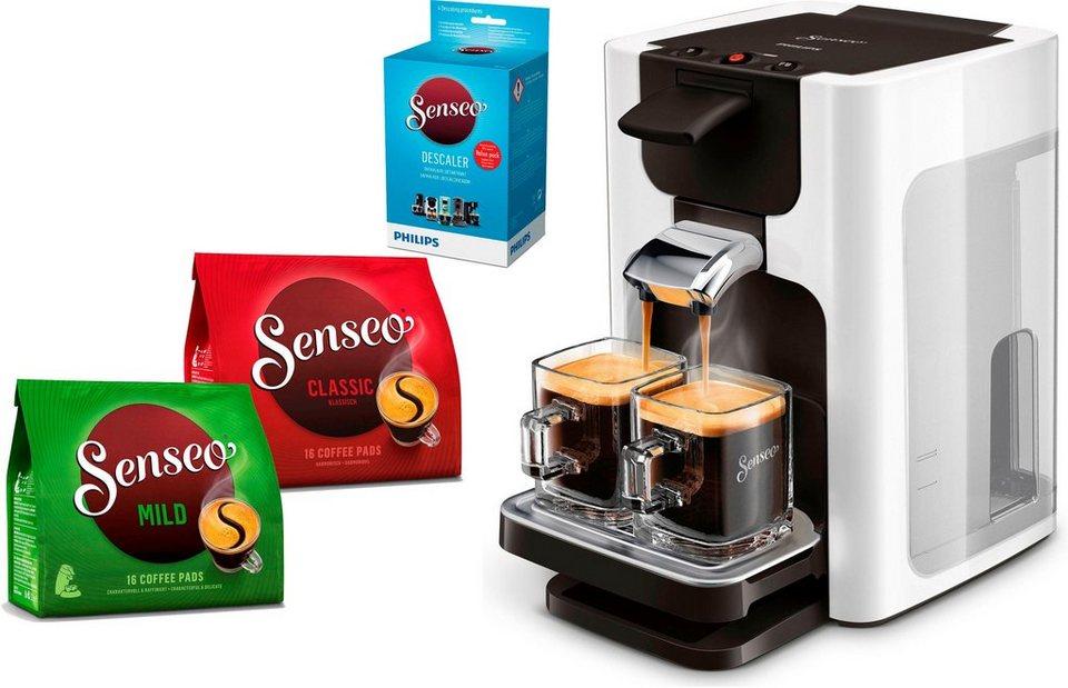 senseo kaffeepadmaschine senseo quadrante hd7865 00 inkl. Black Bedroom Furniture Sets. Home Design Ideas
