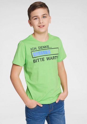 Arizona T-Shirt »Ich denke... bitte warten« Druck