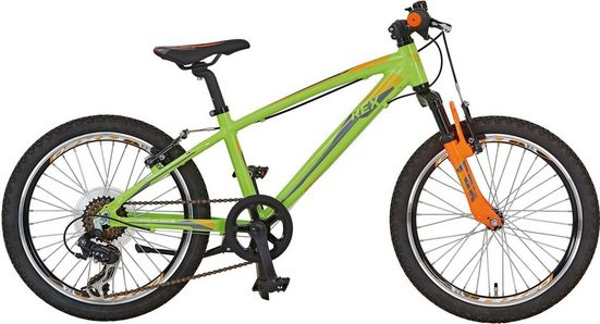 REX Bike Mountainbike »Graveler Kid Knaben 20«, 7 Gang Shimano Schaltwerk Tourney RD-TY300, 6-/7-fach Schaltwerk, Kettenschaltung
