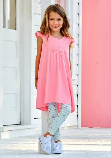 KIDSWORLD Kleid & Leggings (Set, 2-tlg) niedlich gemustert